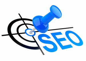 SEO (Search Engine Optimisation Pin in target