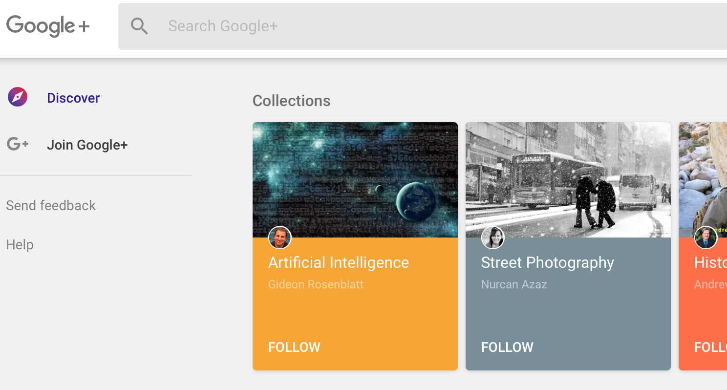 google now - google+
